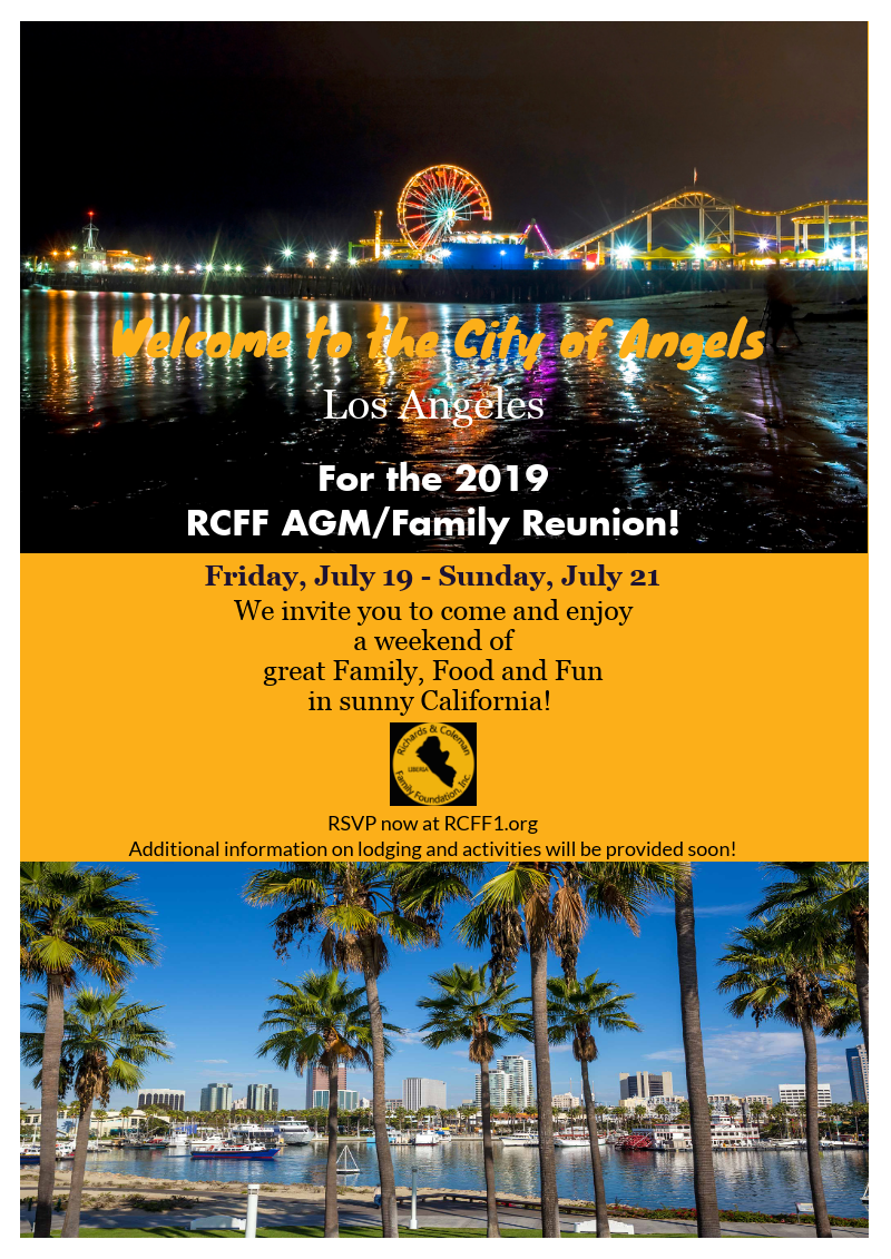 RCFF's 2019 Annual General Meeting/Reunion!